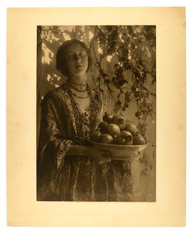 KEENE, MINNA. 1861-1943. Original photograph, Decorative Study No 1: Pomegranates,