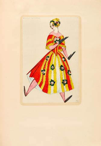 BAKST, LEON. 1866-1924.  Leon Bakst: The Story of His Life. New York: Brentano's, 1922.