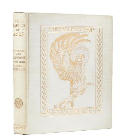 AESOP. c.620-560 B.C. DETMOLD, EDWARD. 1883-1957. Illustrator. The Fables of Aesop. London: Hodder & Stoughton, 1909.