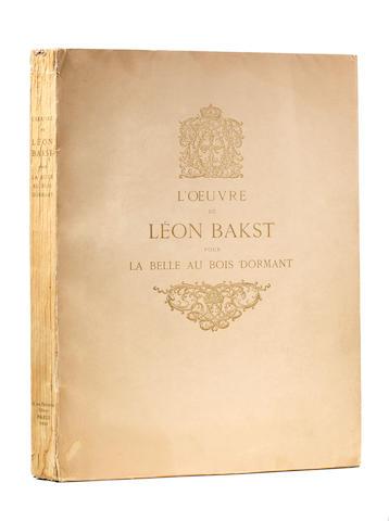 BAKST, LÉON. 1866-1924. L'oeuvre de Léon Bakst pour la belle au Bois Dormant. Paris: de Brunoff, 1922.