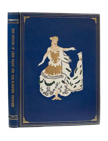 BAKST, LÉON. 1866-1924.  The Designs of Léon Bakst for the Sleeping Princess. London: Benn Brothers, 1923.