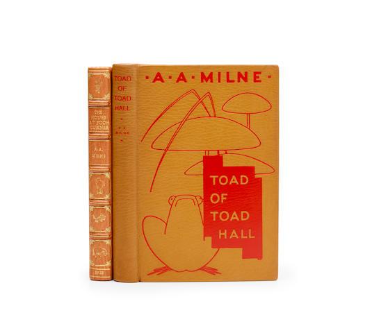 MILNE, ALAN ALEXANDER. 1882-1956. 2 titles: 1. The House at Pooh Corner. London: Methuen & Co., 1928.