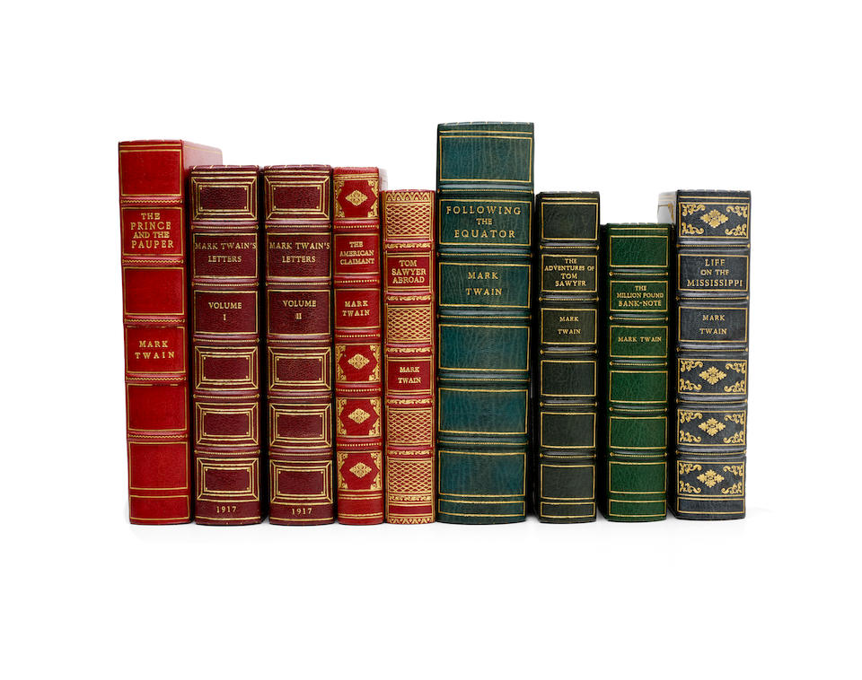 CLEMENS, SAMUEL. 1835-1910. 8 titles: 1. The Adventures of Tom Sawyer. London: Chatto & Windus, 1877. First British edition.