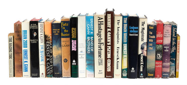 GANN, ERNEST K. 1910-1991. A group of novels, mostly hardcover first editions, comprising: