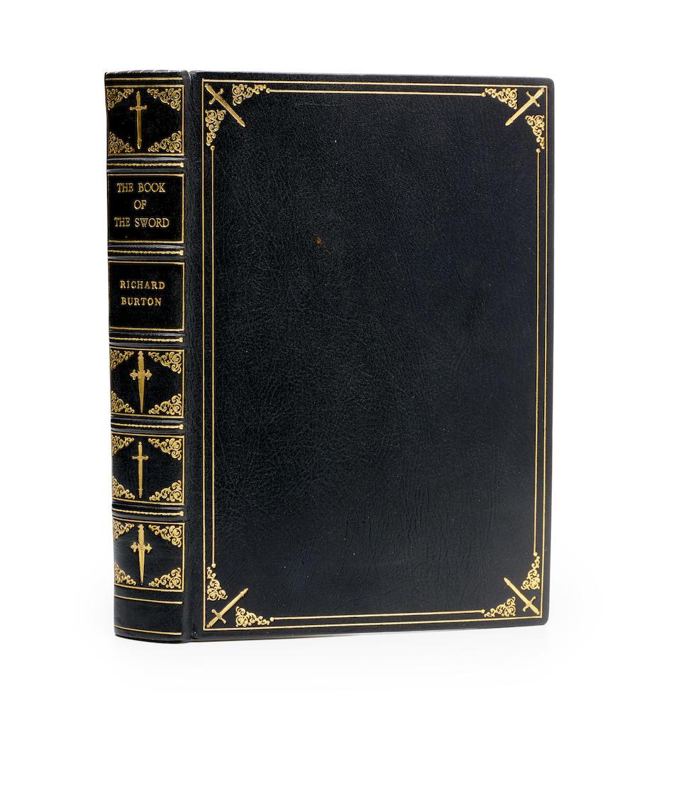 BURTON, RICHARD F. 1821-1890.  The Book of the Sword. London: Chatto & Windus, 1884.