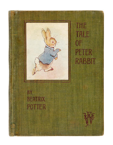 POTTER, BEATRIX. 1866-1943. The Tale of Peter Rabbit. London: Frederick Warne and Co, [1902].