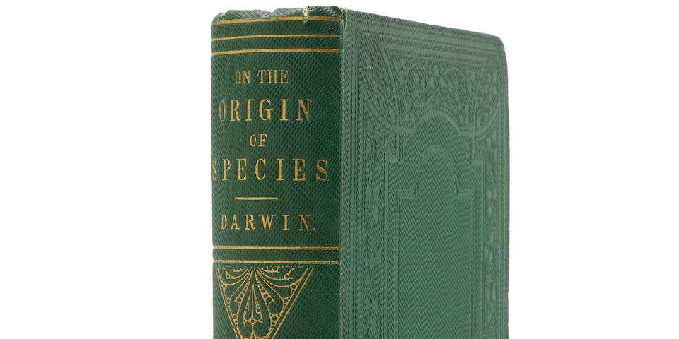 DARWIN, CHARLES. 1809-1882. On the Origin of Species by Means of Natural Selection.  London: John Murray, 1859.