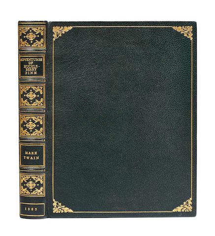CLEMENS, SAMUEL LANGHORNE. 1835-1910. Adventures of Huckleberry Finn. New York: Charles L. Webster & Co., 1885.