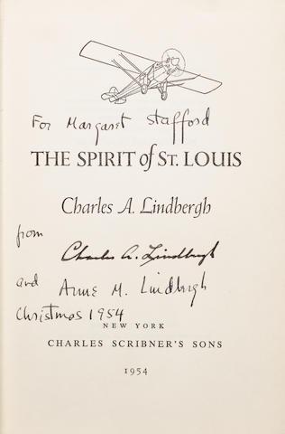 LINDBERGH, CHARLES. 1902-1974. The Spirit of St. Louis.  New York: Charles Scribner's Sons,1954.