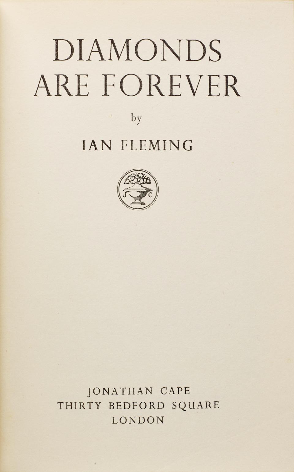 FLEMING, IAN. 1908-1964. 4 James Bond novels: 1. Diamonds Are Forever. London: Jonathan Cape, 1956.