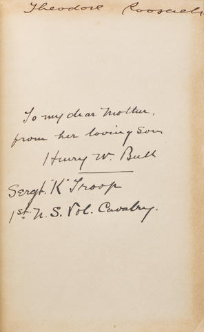 ROOSEVELT, THEODORE. 1858-1918. The Rough Riders.  New York: Charles Scribner's Sons, 1899.