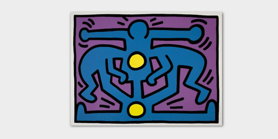 Keith Haring (1958-1990); Growing #2, from Growing Suite;