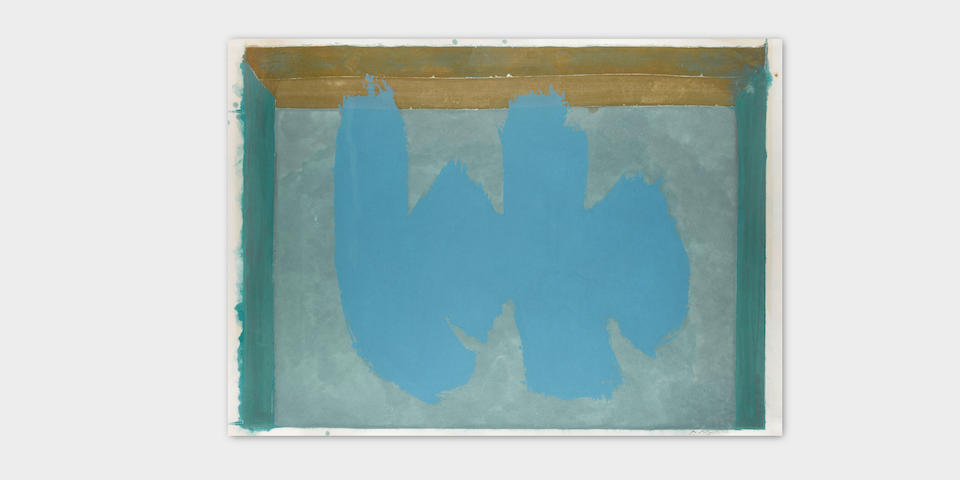 Robert Motherwell (1915-1991); Blue Elegy;