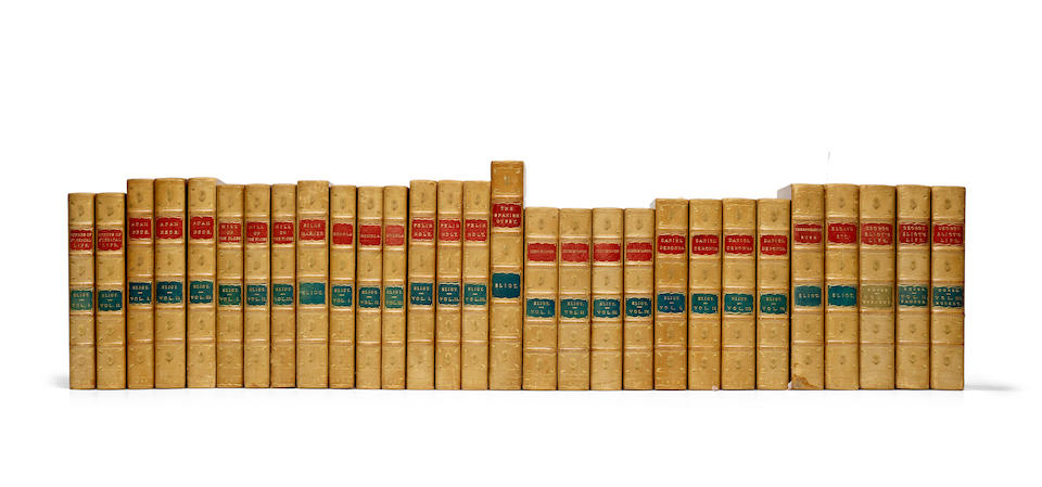 ELIOT, GEORGE. 1919-1880. [First Editions of the Works of George Eliot.] London: William Blackwood and Sons, 1858-1885.