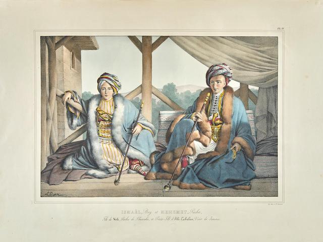 DUPRÉ, LOUIS. 1789-1837. Voyage à Athènes et à Constantinople, ou Collection de portraits, vues et costumes grecs et ottomans. Paris: Dondey-Dupré, 1825.