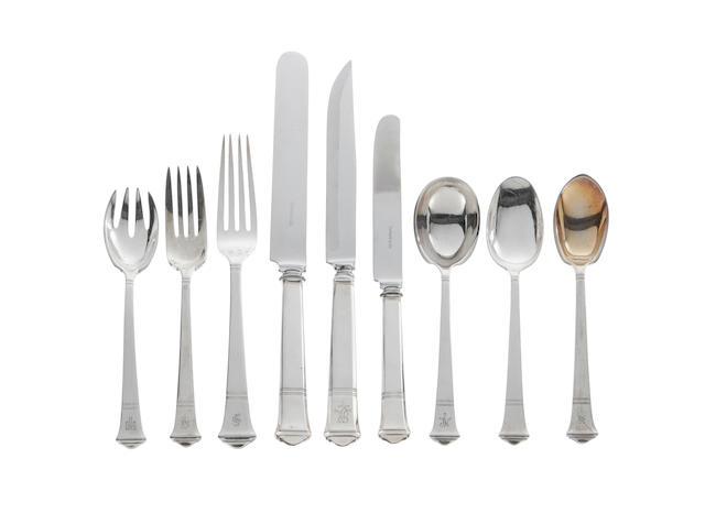 AN AMERICAN STERLING SILVER PARTIAL FLATWARE SERVICE  by Tiffany & Co., New York, 20th Century