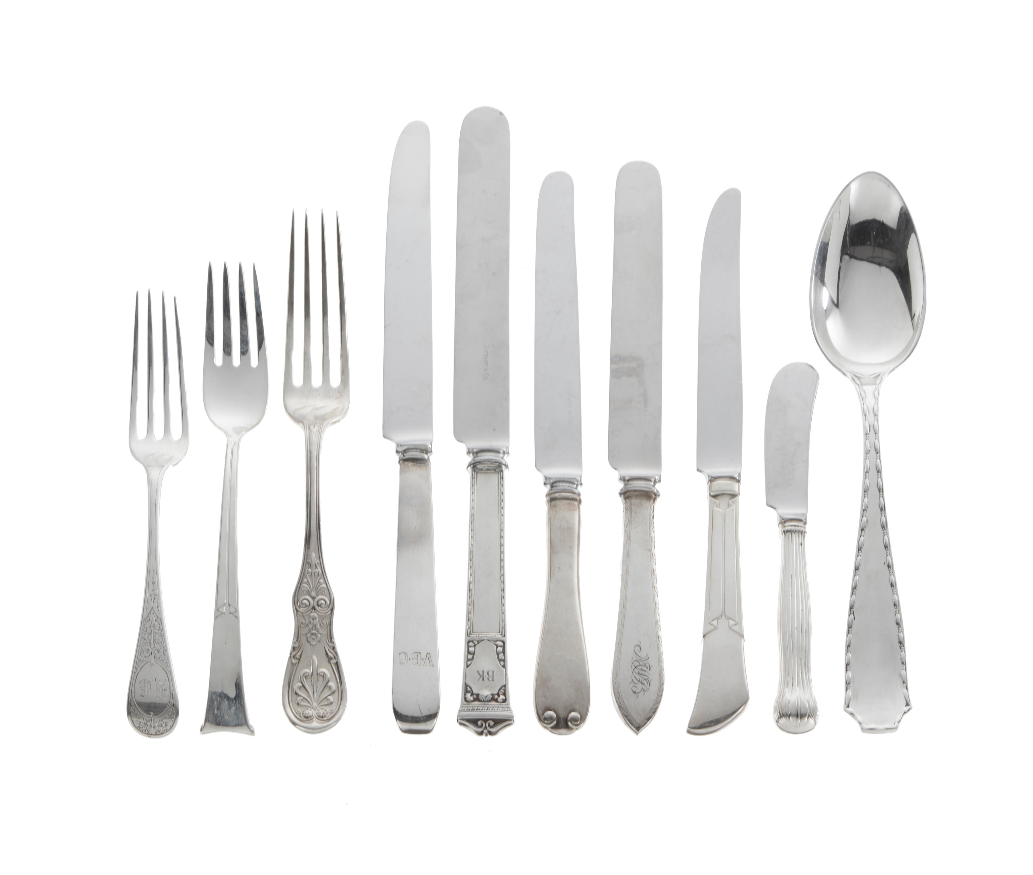 An assembled group of American sterling silver flatware