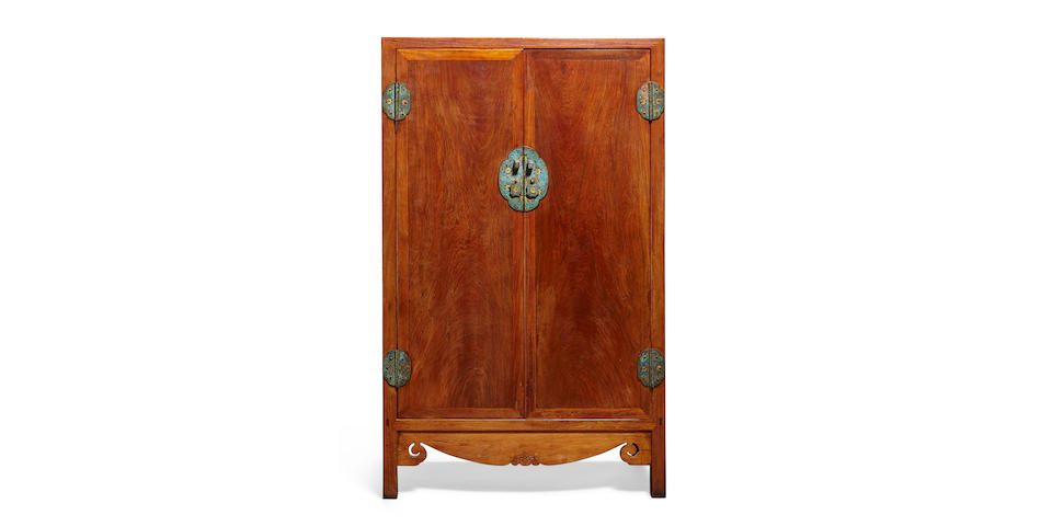 A Huanghuali and mixed wood cabinet Qing dynasty, 18th/19th century