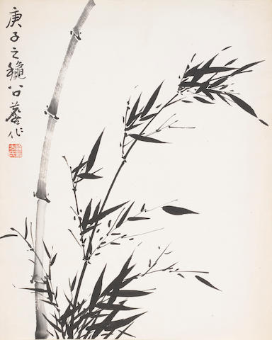 Fang Zhaolin (1914-2006)  Two paintings of Bamboo, 1958, 1960