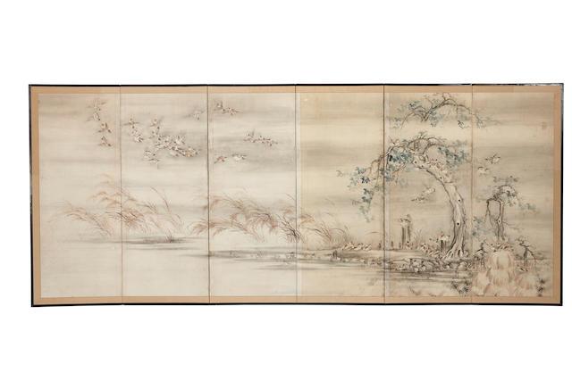 Maruyama-Shijo School (19th century) Sparrows and Millet