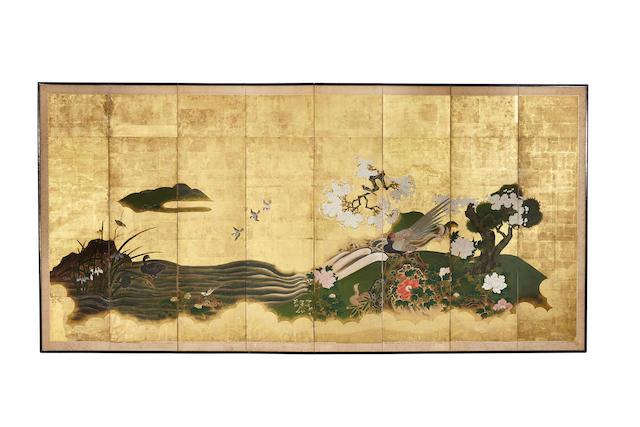 Anonymous Kano School (Edo period) Birds in a Flowering Landscape