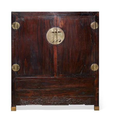 A massive hongmu cupboard Late Qing/Republic period