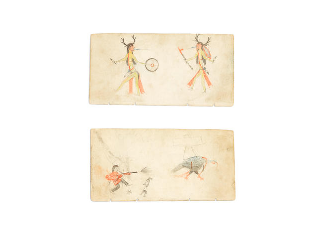 A Cheyenne double-sided ledger drawing