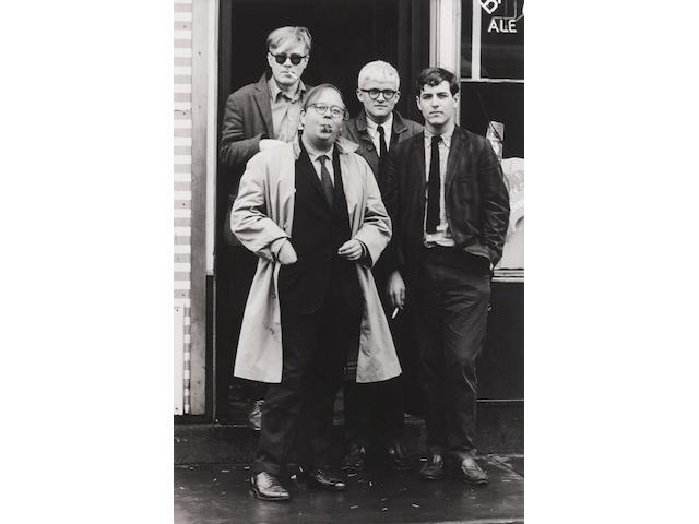 Dennis Hopper (1936-2010); Andy Warhol, Henry Geldzahler, David Hockney and Jeff Goodman;