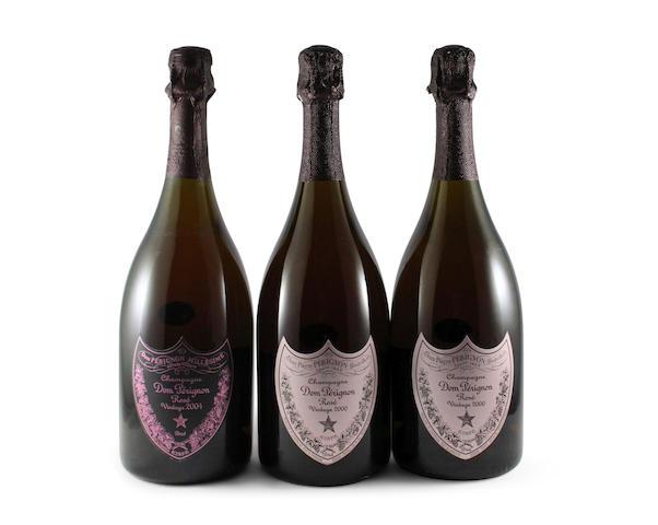 Dom Pérignon Rosé 2000 (2) Dom Pérignon Rosé 2004 (1)