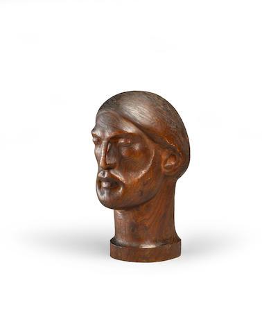 Malvina Hoffman (1887-1966) Head of Fosuidi 15in high (Carved circa 1930.)