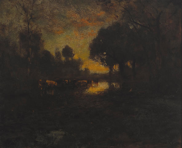 William Keith (1838-1911) Sunset 19 1/4 x 23 1/2in (Painted circa 1905.)