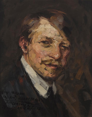 Joseph Raphael (1869-1950) A self-portrait 16 3/8 x 13in (Painted in 1910. )