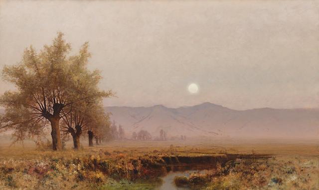 Julian Rix (1850-1903) Nightfall, Santa Clara Valley 30 x 50in (Painted in 1880.)