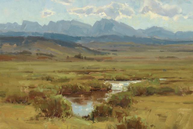 Scott Christensen (born 1962) Fields of Green 16 x 24in