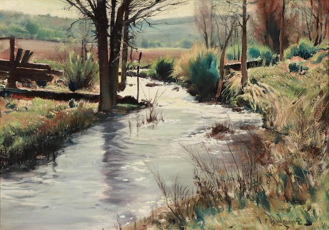 Paul Lauritz (1889-1975) River landscape 24 x 34in