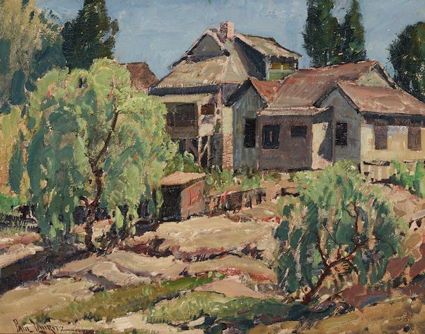Paul Lauritz (1889-1975) Early Los Angeles 16 x 20in