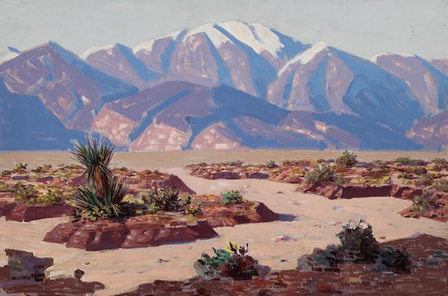 Conrad Buff (1886-1975) Mount San Jacinto 20 x 30in