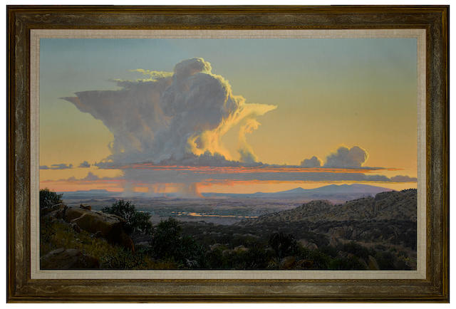 Wilson Hurley (1924-2008) September Thunderhead 52 x 84in (Painted in 1989.)