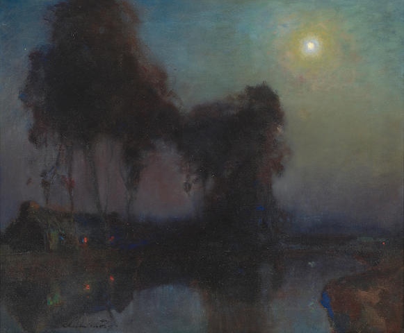 Charles Rollo Peters (1862-1928) Nocturne 19 x 25in (Painted circa 1925.)