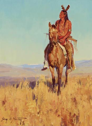 Jim Norton (born 1953) In the Setting Sun 12 x 9in (Painted in 2005.)
