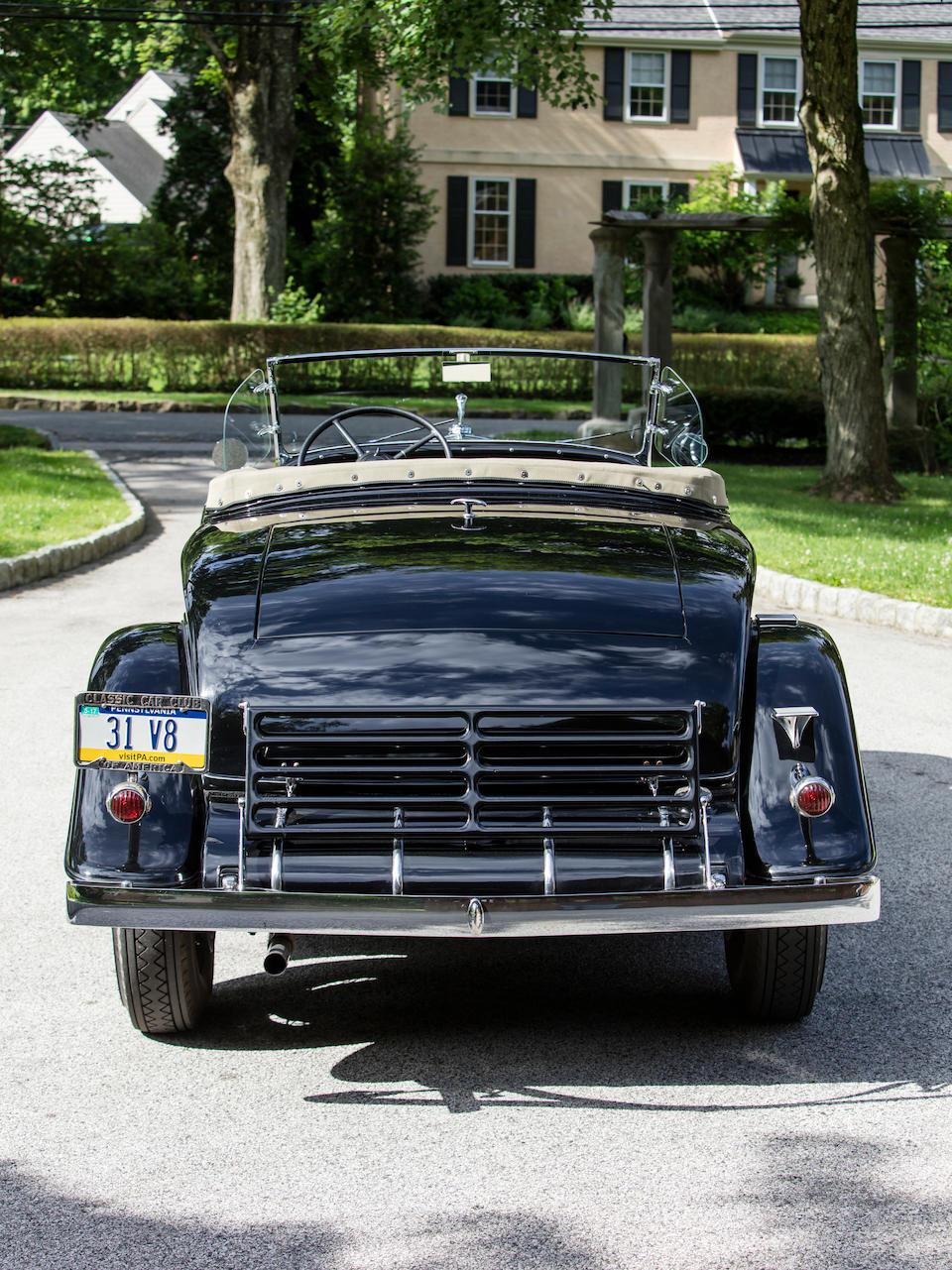 <b>1931 Cadillac 355-A V-8 Roadster</b><br />Engine no. 808162<br />Body no. 88