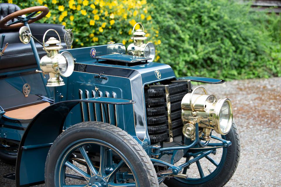 <b>1901 Panhard et Levassor 5hp Twin Cylinder Rear Entrance Tonneau</b><br />Chassis no. 2362<br />Engine no. 2362