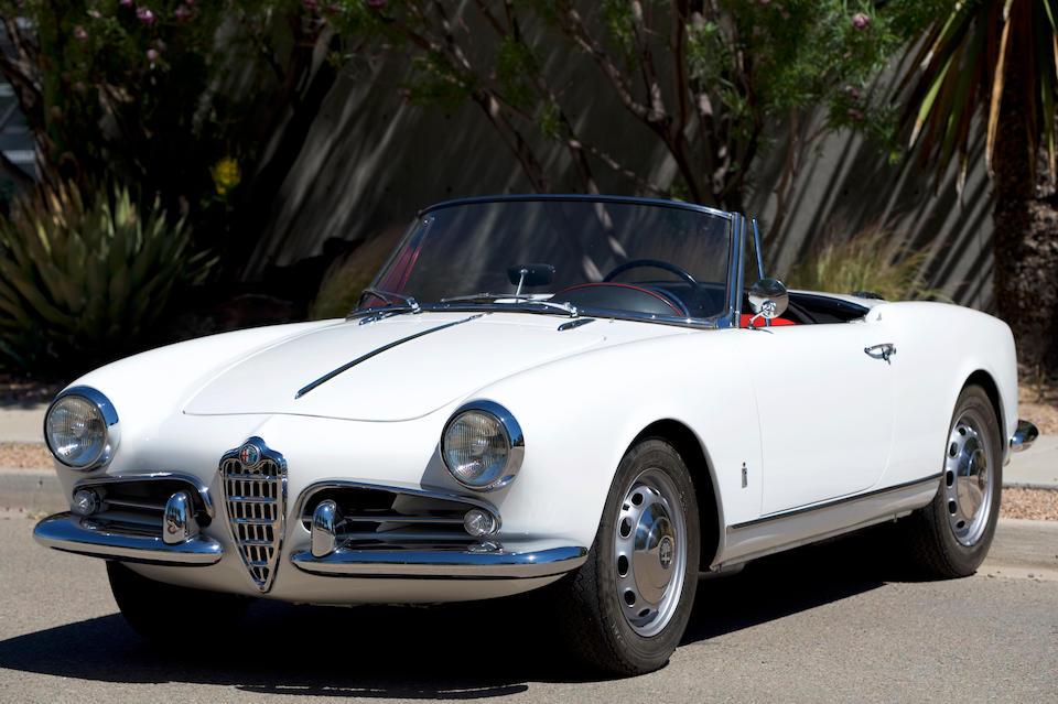 <b>1962 Alfa Romeo Giulietta Spider Veloce</b><br />Chassis no. AR170812<br />Engine no. AR00106 02698