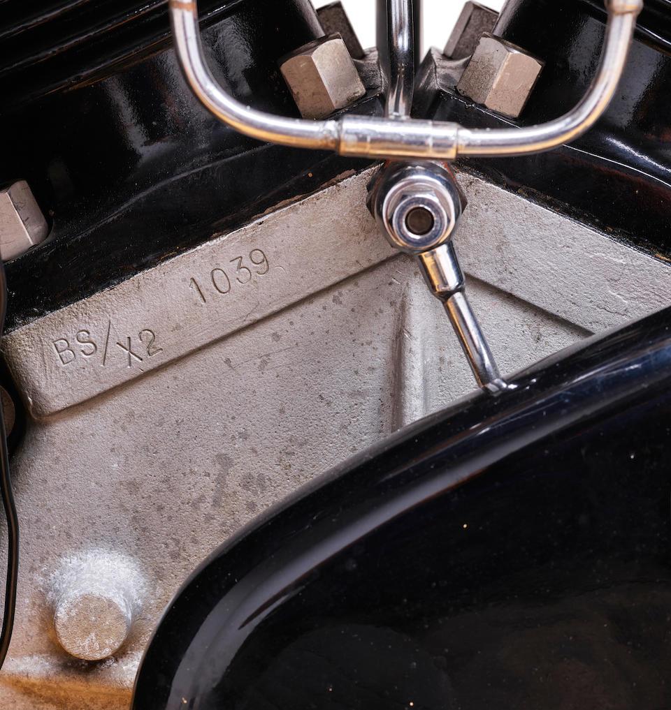 <b>1938 Brough Superior SS100</b><br />Frame no. M1/1936<br />Engine no. BS/X2 1039