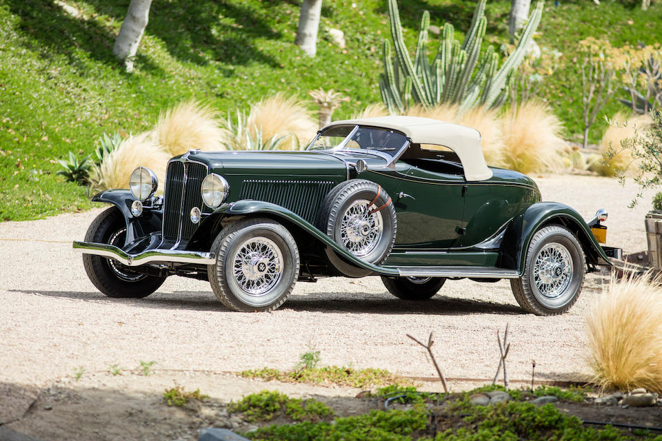 <b>1932 Auburn 12-160A Boattail Speedster</b><br />Chassis no. 12-160A 1991 E<br />Engine no. BB 1216