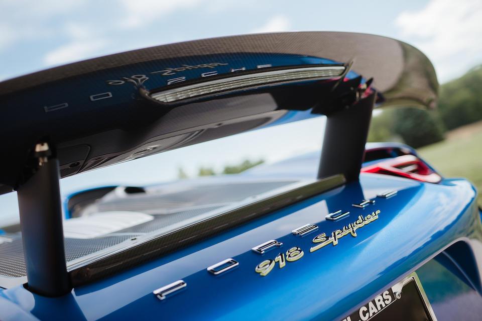 <b>2015 Porsche 918 'Weissach' Spyder</b><br />VIN. WPOCA2A18FS800846