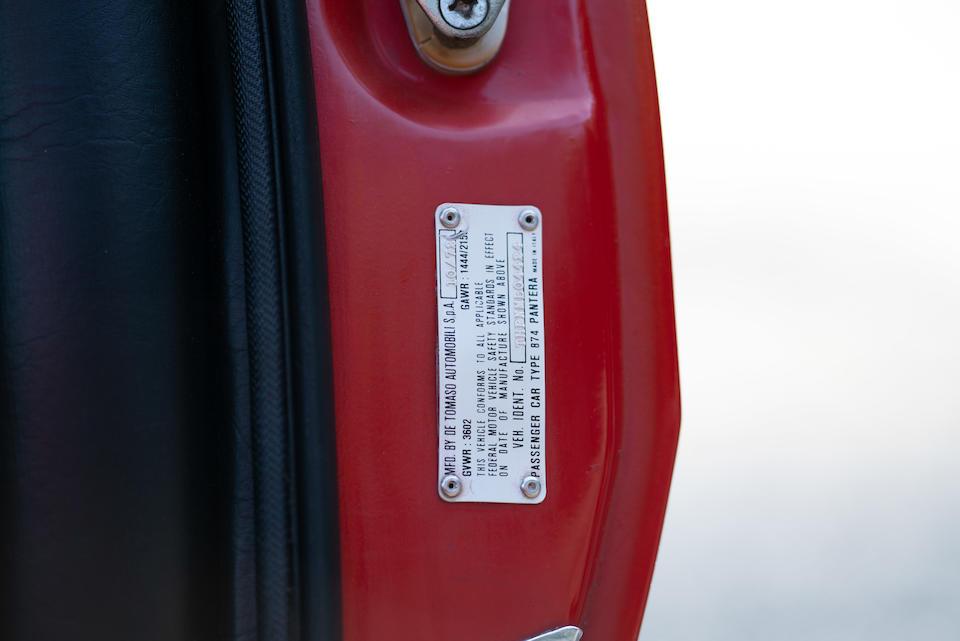 <b>1972 De Tomaso Pantera L</b><br />Chassis no. THPNML04424