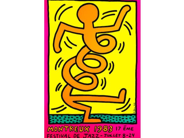 Keith Haring (1958-1990); Montreux 1983 (Orange Figure);