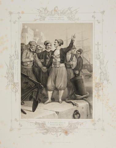 HESS, PETER VON. 1792-1871. [Befreiung Griechenlands in XXXIX Bildern.... Munich: Kohler, 1835.]