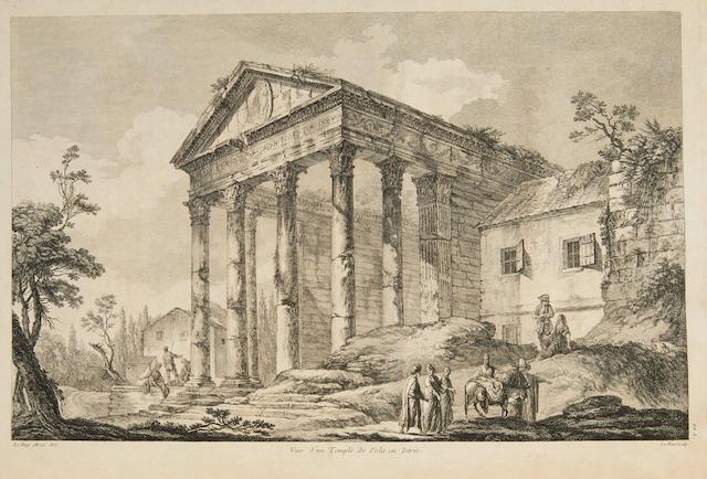 LE ROY, JULIEN DAVID. 1728-1803.   Les Ruines des plus beaux monuments de la Grèce. Paris and Amsterdam: H. L. Guerin, L.F. Delatour, Jean-Luc Nyon and Jean Neaulme, 1758.